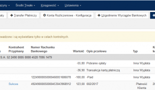 Import wyciągów bankowych z pliku