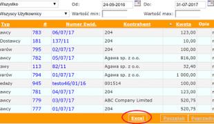 Export danych do Excela w programie mKsiegowa