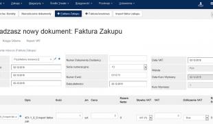 nowy interfejs dla faktur zakupu