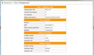 Czytelny podgląd plików JPK_VAT