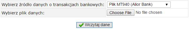 import wyciągu bankowego