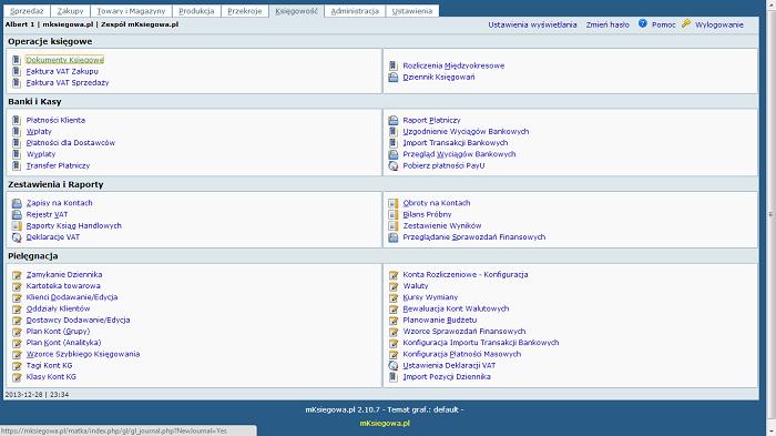 Program księgowy online na tablecie